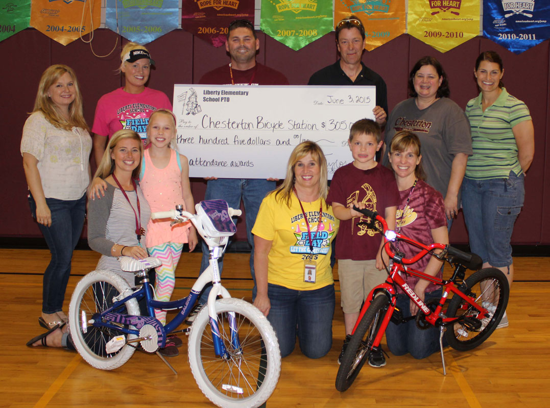 Liberty Elementary Students Awarded Bikes for Perfect Attendance