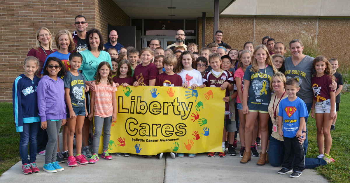 Liberty Elementary Holds 2015 Pediatric Cancer Awareness Walk