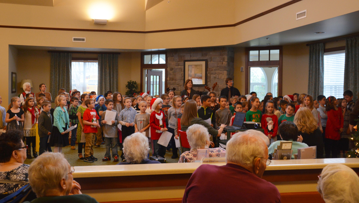 Liberty Elementary Students Sing at Addison Pointe Health and Rehabilitation Center