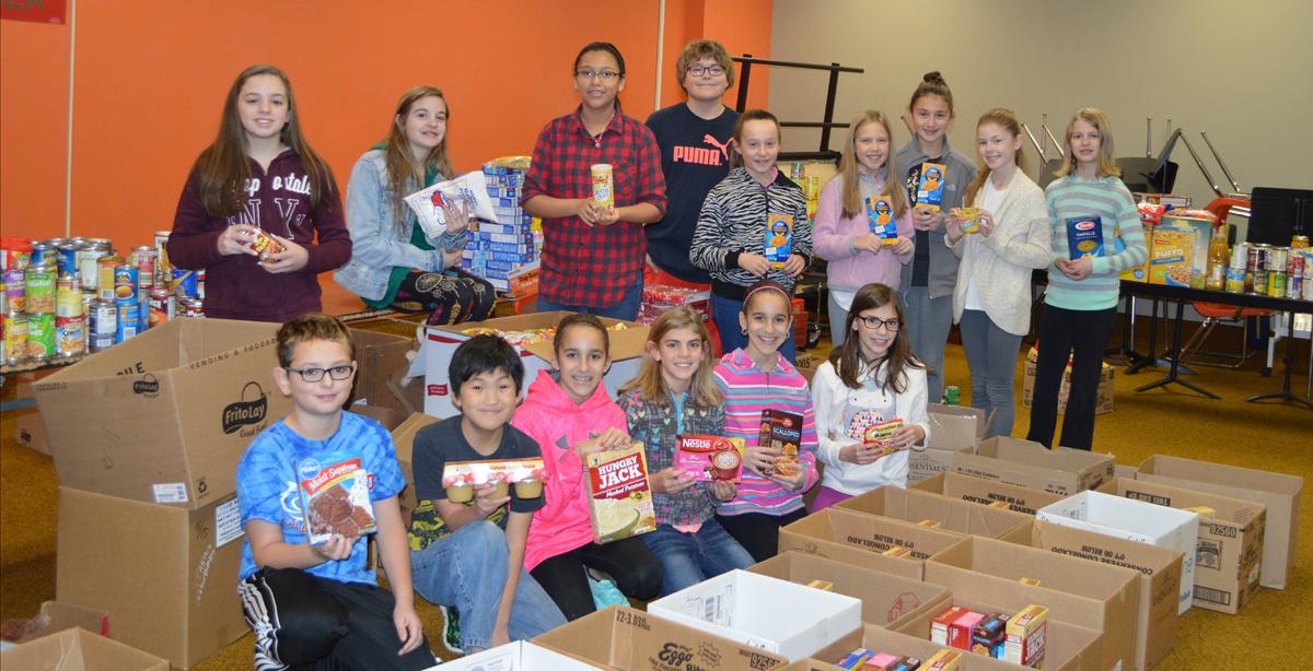 Liberty Intermediate School Participates in 2015 Food Drive