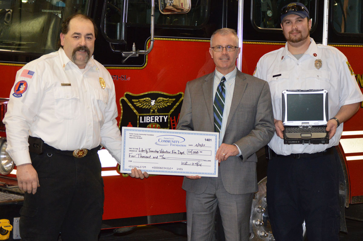 Liberty-Township-Volunteer-Fire-Department-Purchases-Four-Computers-with-Grant-from-Porter-County-Community-Foundation