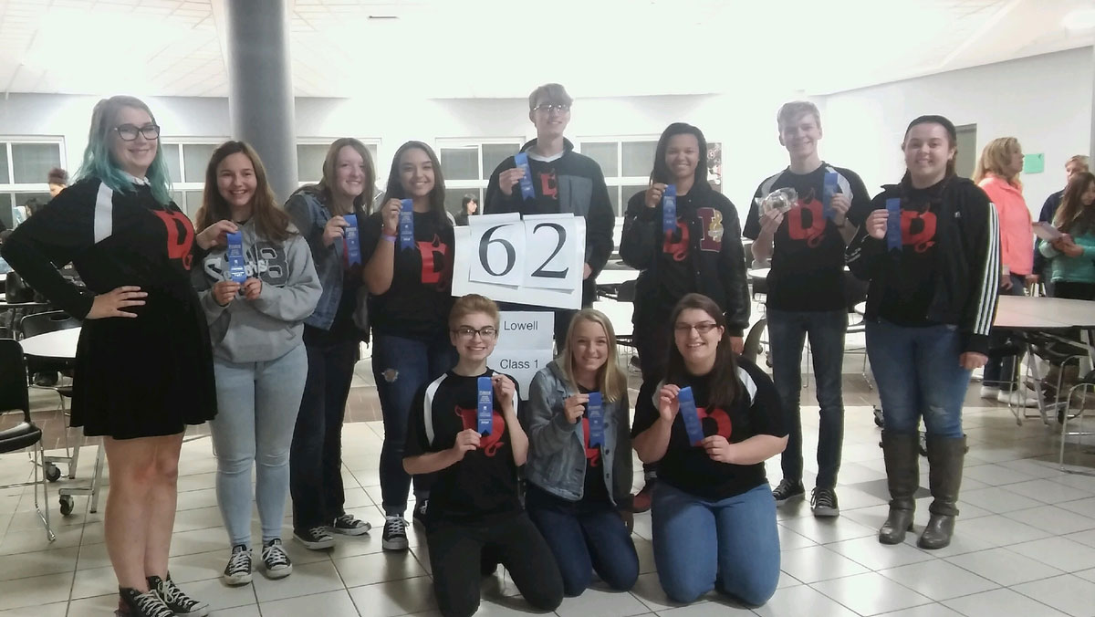 Lowell High School Spell Bowl Team Compete At State For Second Consecutive Year