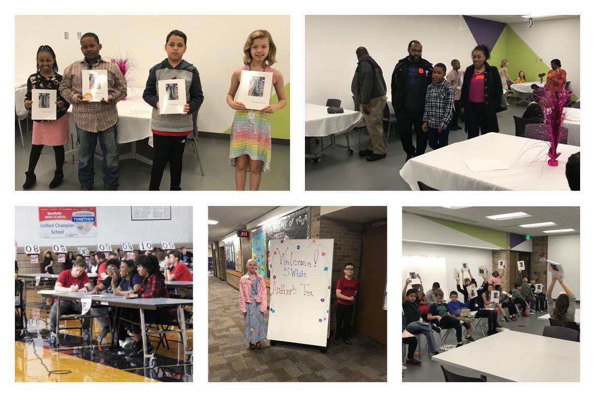 Merrillville-Intermediate-School-5th-grade-Team-hosts-Authors-Tea