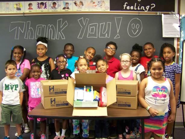 Merrillville Intermediate Students Receive 400 Back-to-School Kits