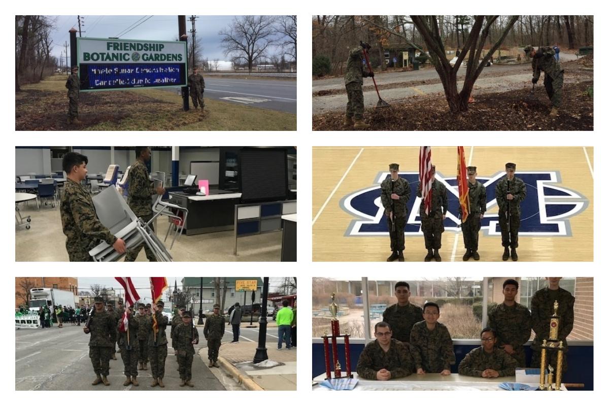 Michigan-City-High-School-MCJROTC-Supports-School-Community