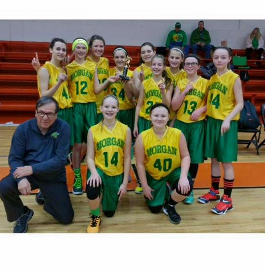 Morgan Township 7th Grade Girls Basketball Team Finishes Season 17-0!