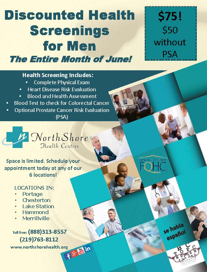 NorthShore Health Centers Offering Discounts During 2017 Men's Health Month