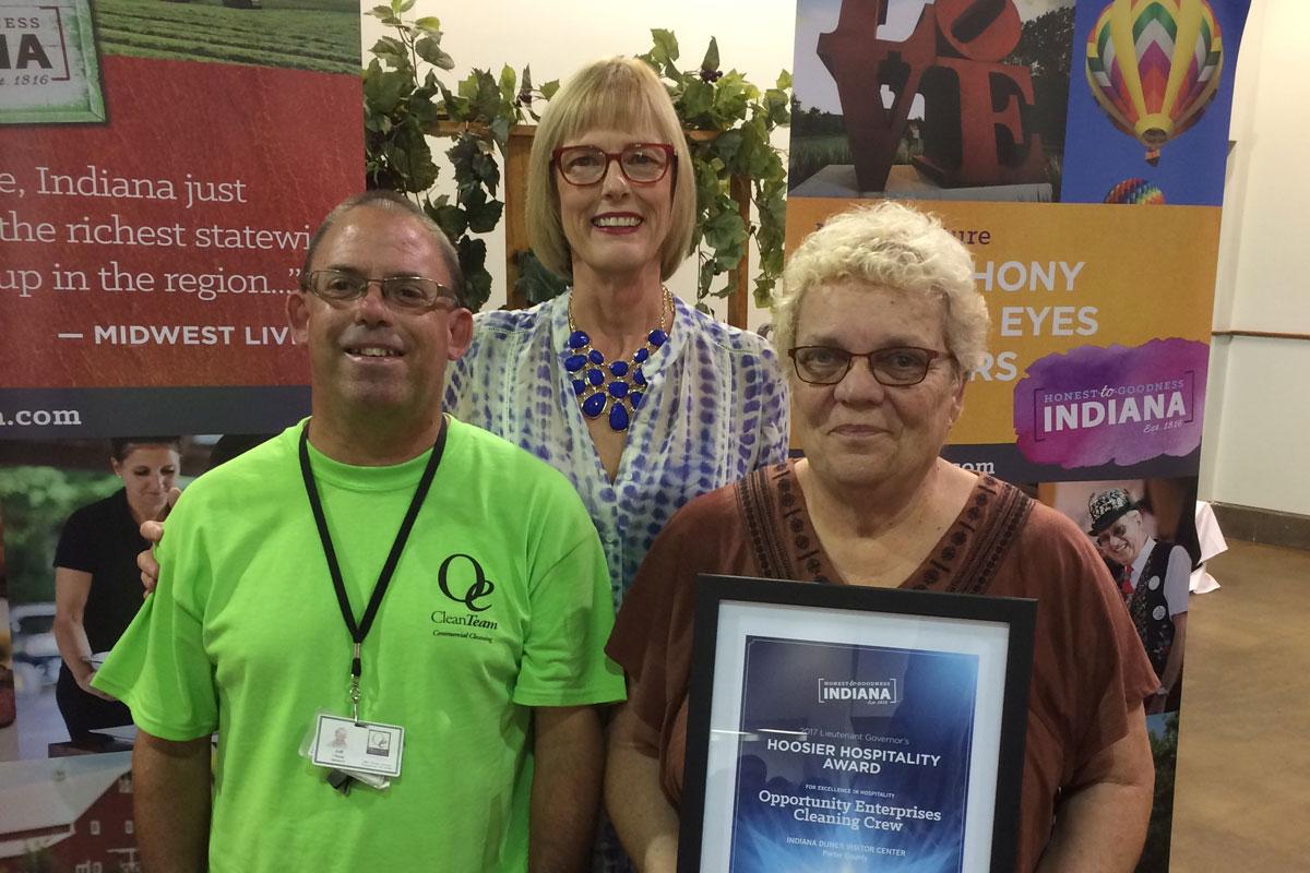 Opportunity-Enterprises-Clean-Team-Receives-Hoosier-Hospitality-Award-2017