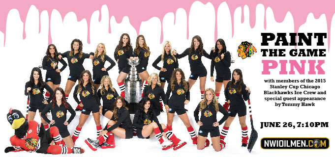 Stanley Cup Champion Chicago Blackhawks Ice Crew, Tommy Hawk to help Oilmen Fight Breast Cancer