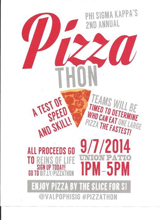 Phi Sigma Kappa's 2nd Annual Pizzathon