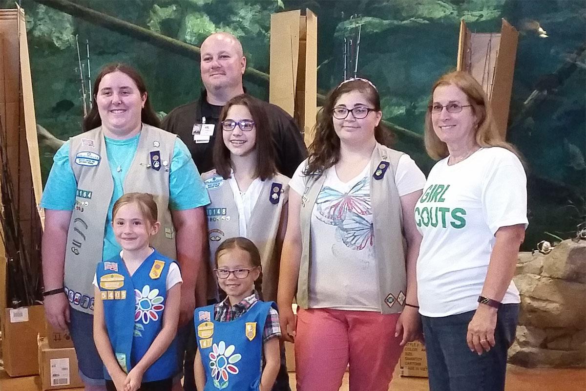 Portage-Bass-Pro-Shop-Donate-Fishing-Gear-to-Girl-Scouts