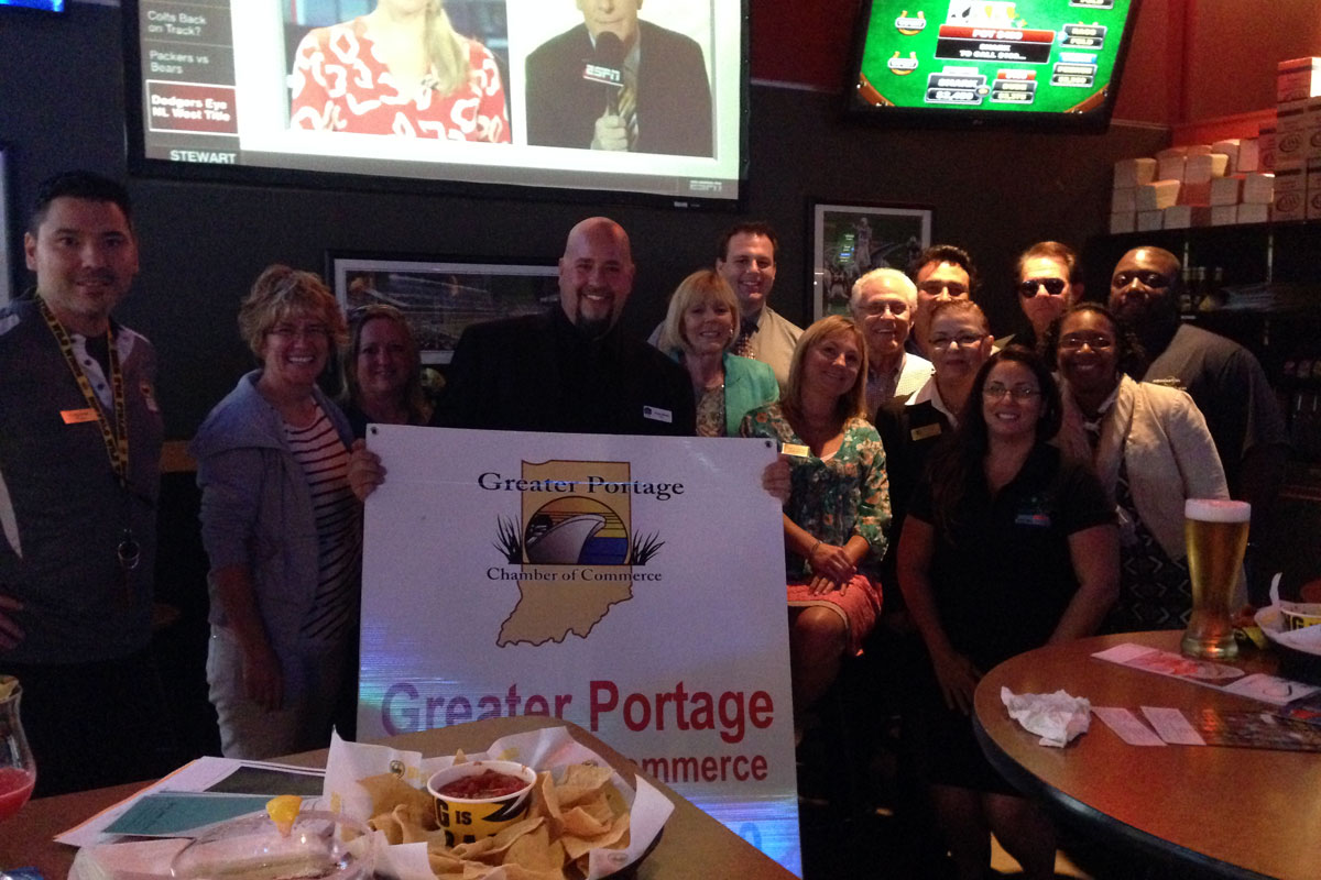 Buffalo Wild Wings Hosts Portage Chamber September 2014 Mid-Week Mingle