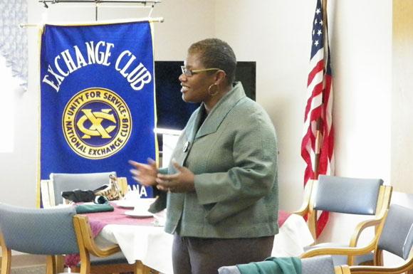 Mayor Freeman-Wilson Speaks to Portage Exchange Club