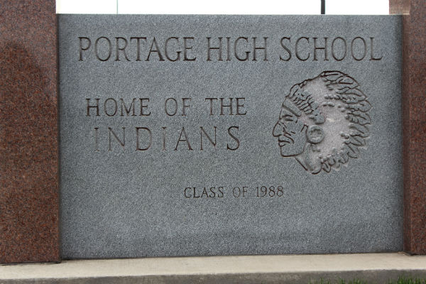 Portage-High-School-Sign
