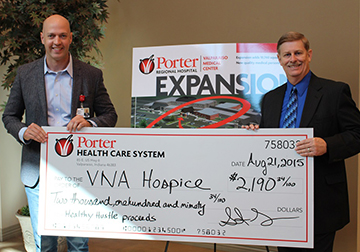 Porter-Health-Care-System-Presents-Race-Proceeds-to-VNA-Hospice-of-Porter-County