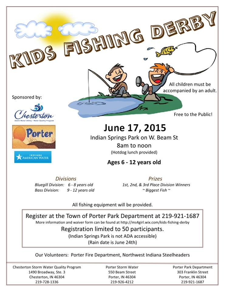 Free Kid's Fishing Derby at Porter's Indian Springs Park set for June 17, 2015