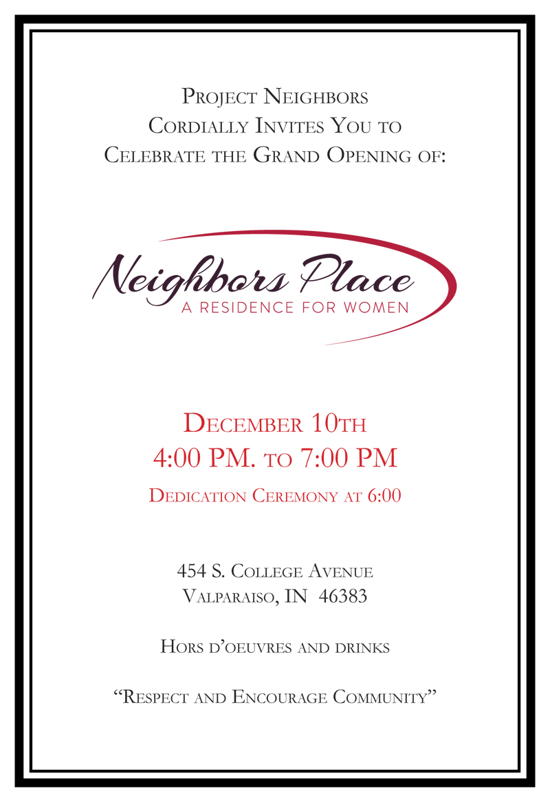 Project Neighbors Grand Opening Invite
