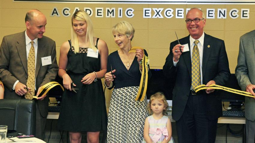 PUC-Purdue-Calumet-Hosts-Dedication-of-Paul-K-and-Barbara-Graegin-Ribbon-Academic-Excellence-Center