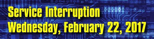 REGIONAL Federal Credit Union Service Interruption Wednesday, February 22, 2017