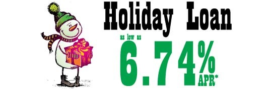 REGIONAL Federal Credit Union Offering Holiday Loans as low as 6.74% APR*