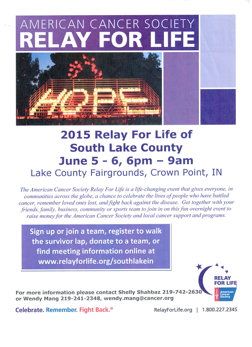 Register Today for the Relay for Life of South Lake County