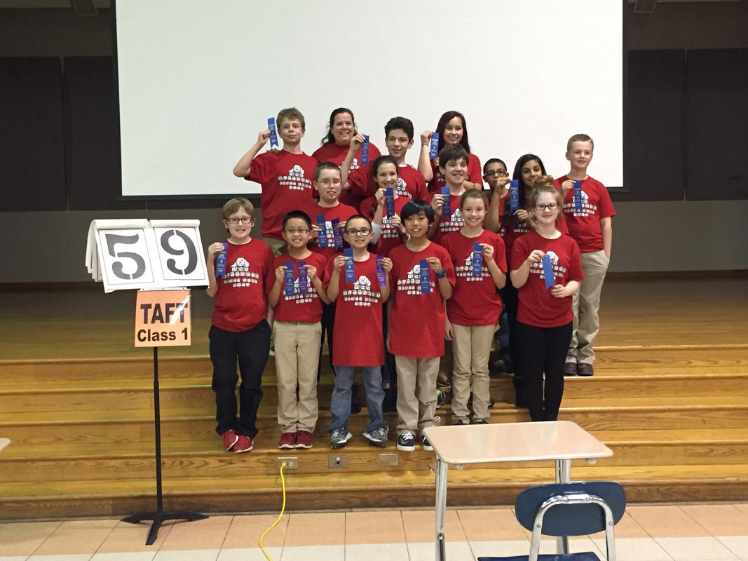 Robert Taft Middle School Wins 2015 Class 1 Regional Spell Bowl Competition