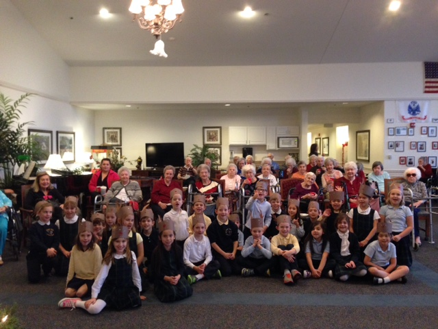 Saint-Paul-First-Graders-Carol-at-Rittenhouse-Senior-Living
