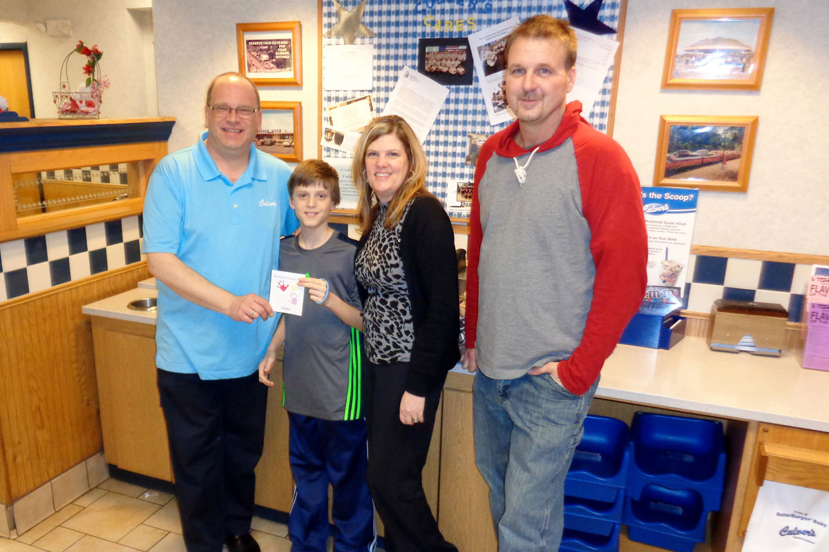 Culver's of Schererville Shows Love for Nathan C. Splant Foundation