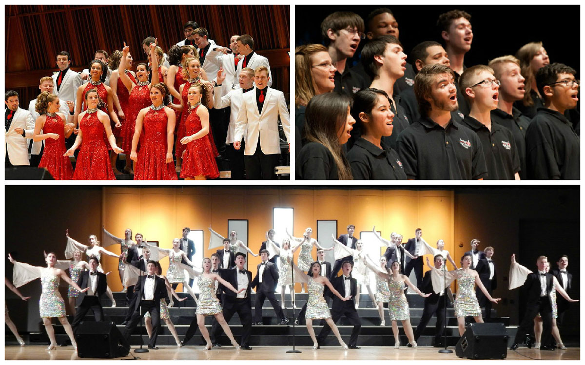 Concert Association of Valparaiso Presents: Show Choirs! Ball State's University Singers, Chesterton High School's Sand Pipers, Portage High School's Choraliers