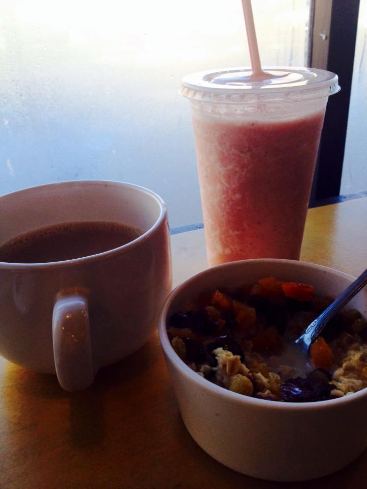 smoothie-coffee-oatmeal