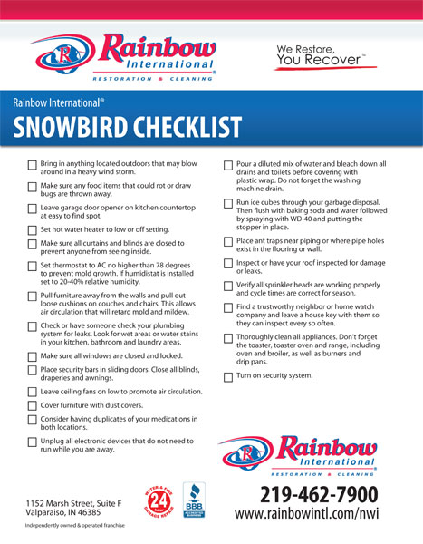 Snowbird-Checklist