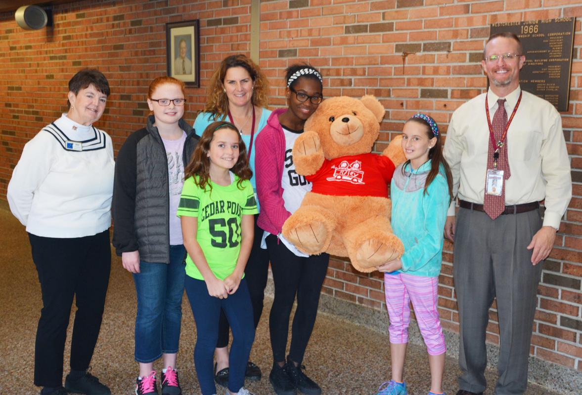 Speedway Bear Delivered to Westchester Intermediate School