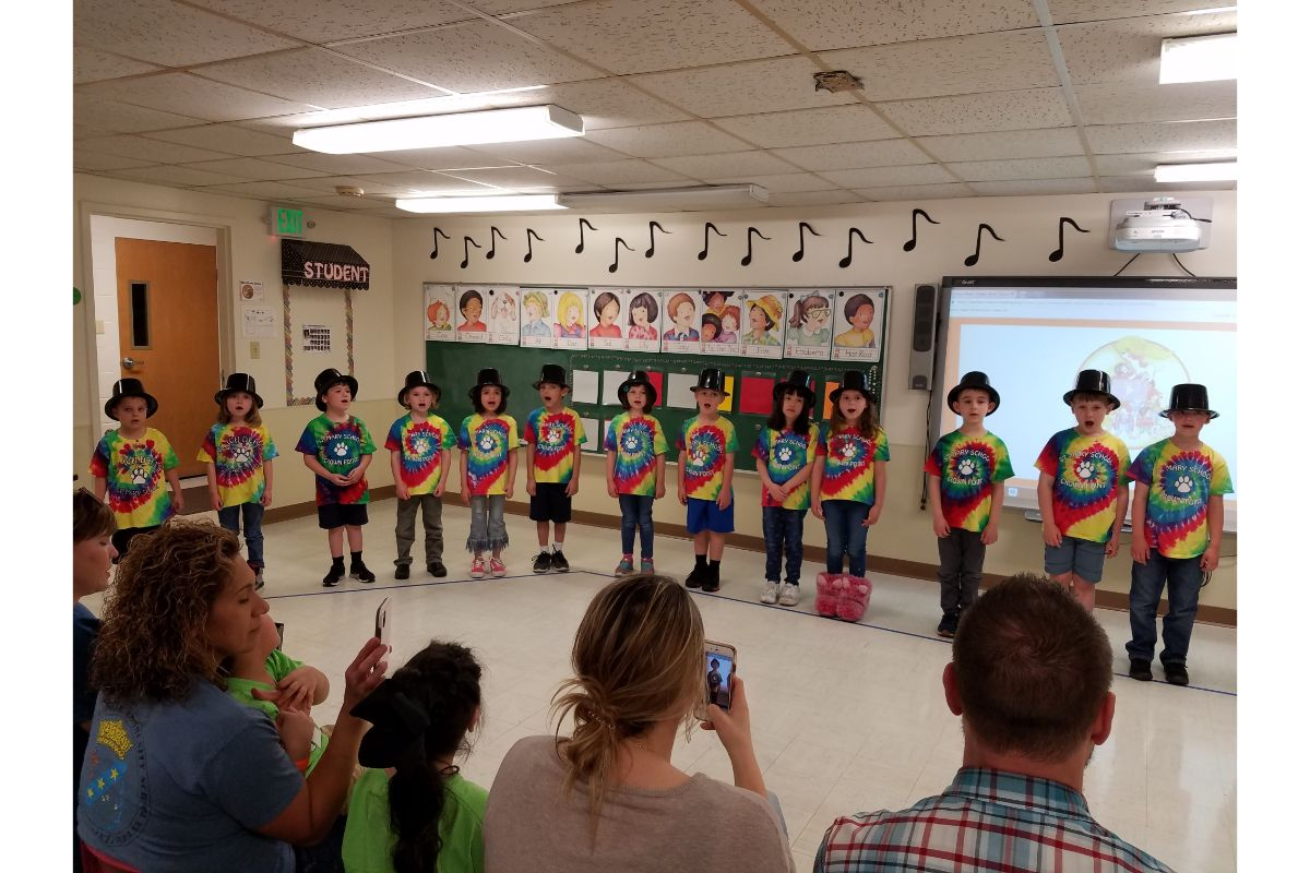 St. Mary's Kindergarten Students Move on to First Grade, First Grade to the Tune of New York, New York