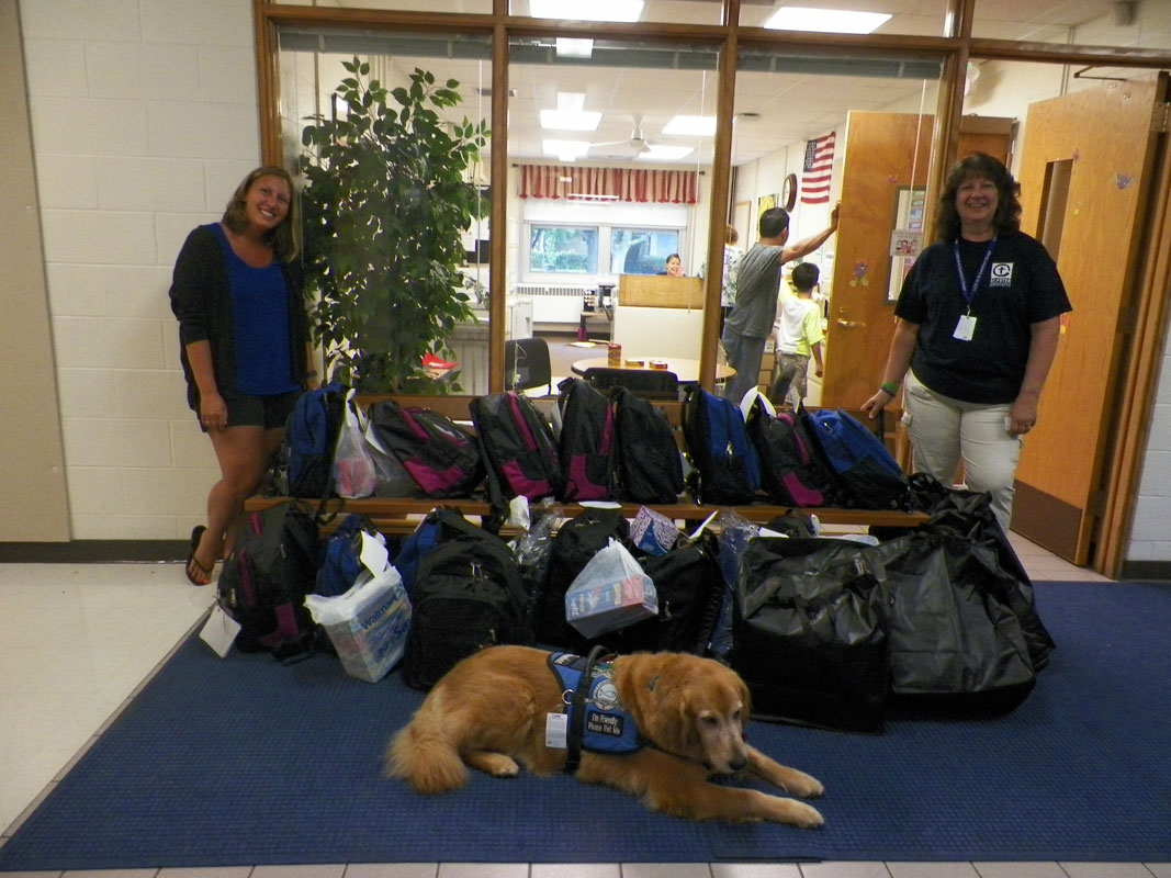 St-Peter-Lutheran-Church-of-Portage-Provides-Central-Elementary-with-Backpacks-and-Care-Kits