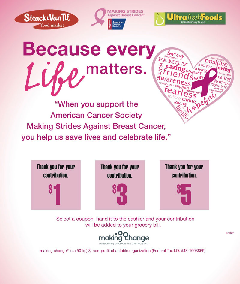 Strack and Van Til, Ultra Foods Launch 'Because Every Life Matters' Campaign for Breast Cancer Awareness