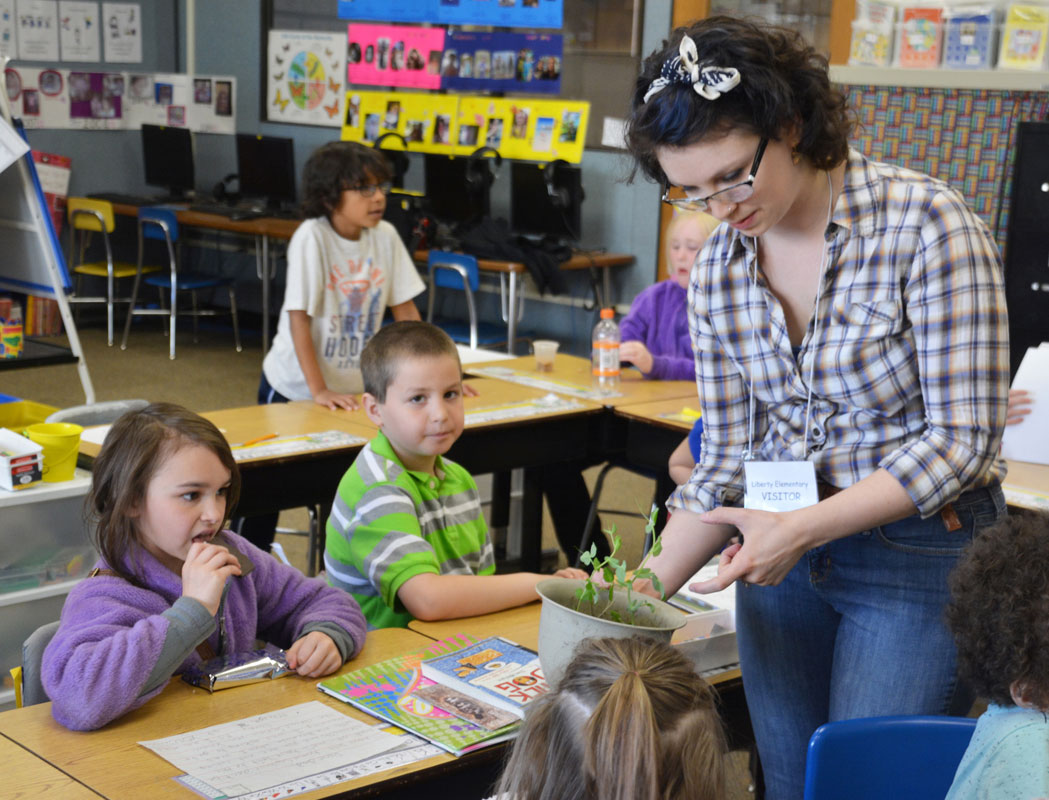 Liberty Elementary Students Learn about Plant Growth