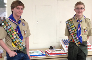 Two Chesterton Troop 908 Scouts Take on Local Projects  to Earn Eagle Scout Rank in 2017