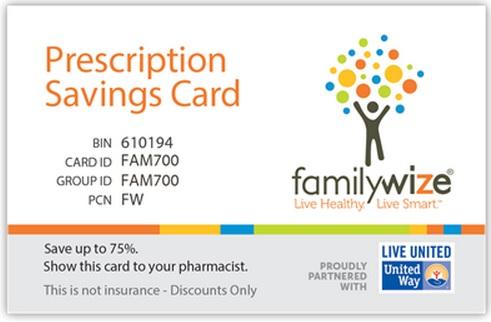 United-Way-La-Porte-FamilyWize-Card