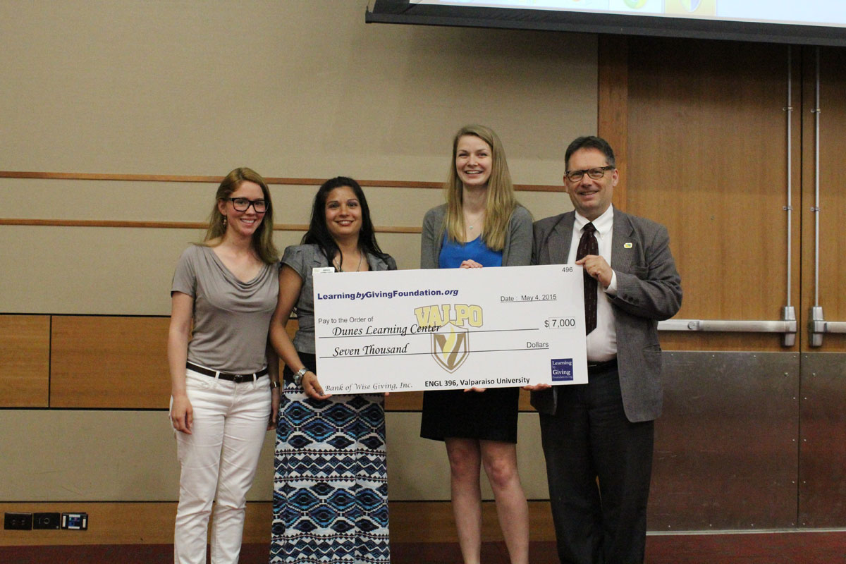 Dunes Learning Center Receives $7,000 from Valparaiso University Students to Fund Mighty Acorns