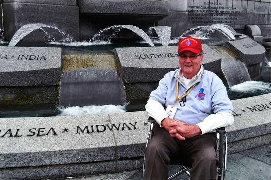 Wellman Honor Flight WWII Memorial-thumb