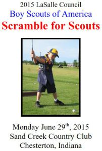 2015 LaSalle Council Scramble for Scouts set for June 29th