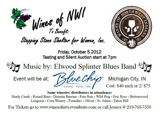Wines of Northwest Indiana to Benefit Stepping Stone Shelter