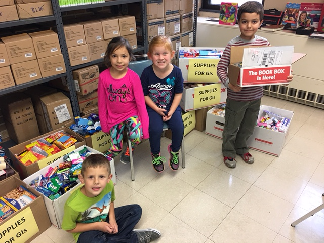 Winfield Elementary Collects Supplies for GI's in 2016