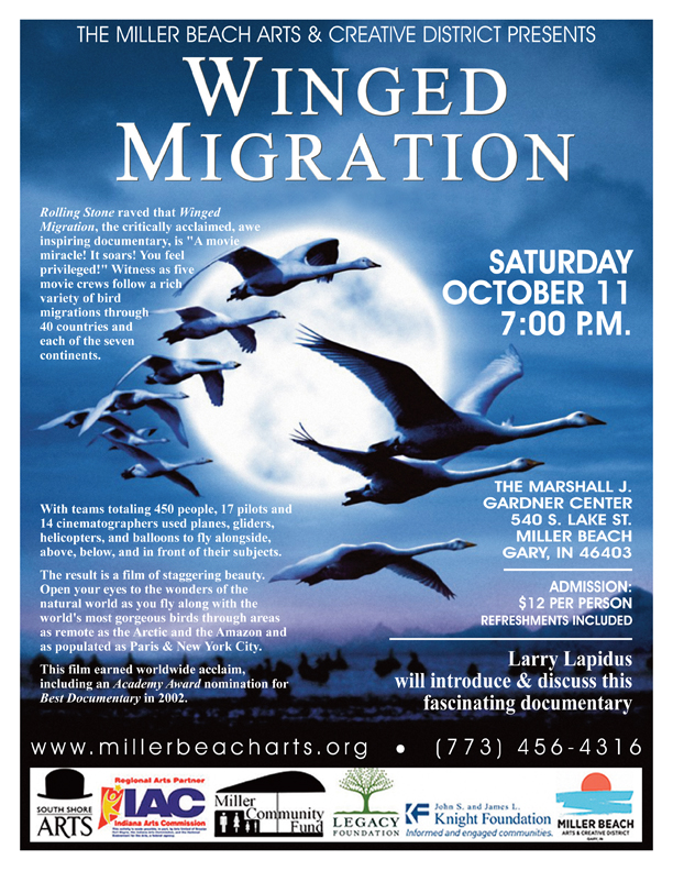 Winged Migration – Film and Discussion about Birds Documented via Plane, Helicopter, Balloons and Gliders