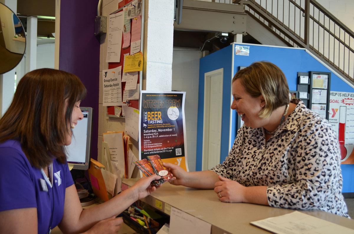Witches-Brew-Ticket-Sales-2014-Jan-Zurek-and-Rita-Barnas-from-the-Portage-YMCA