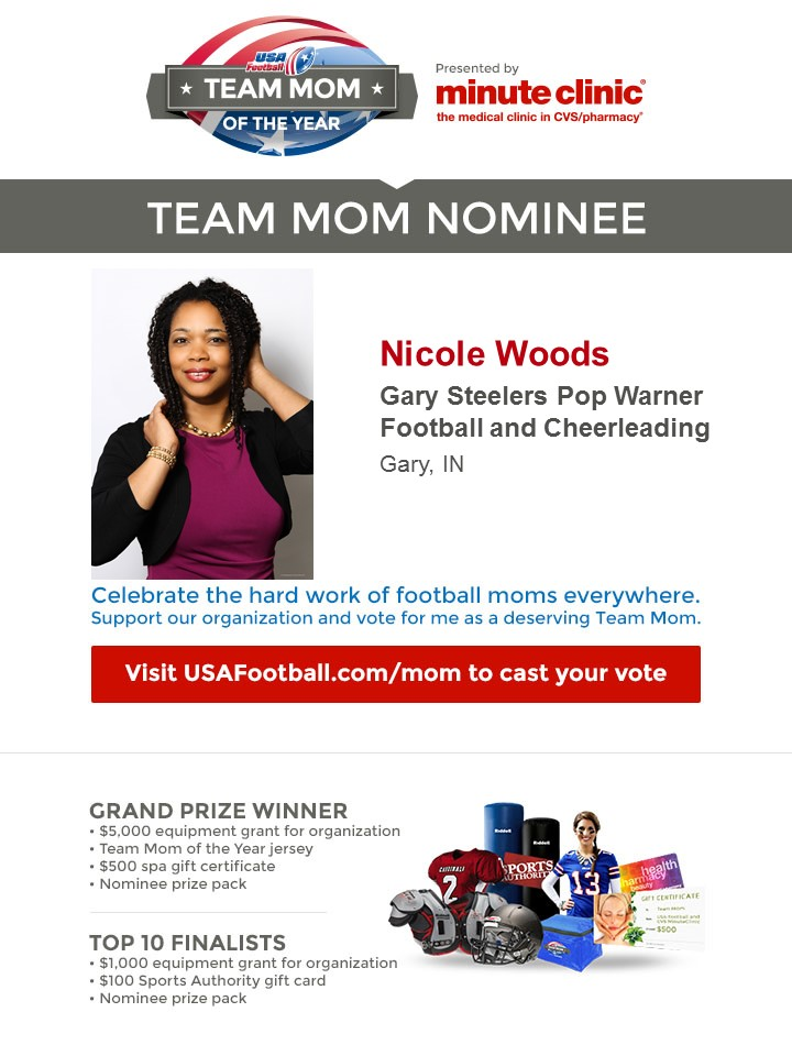 USA Football/MinuteClinic Team Mom of the Year Contest Celebrates the Women who Make Youth Leagues Go