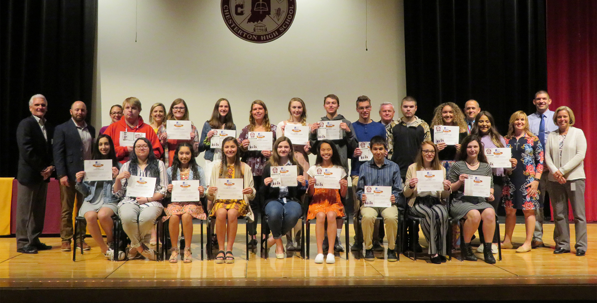 Work Ethic Certification Awards Ceremony at Chesterton High School