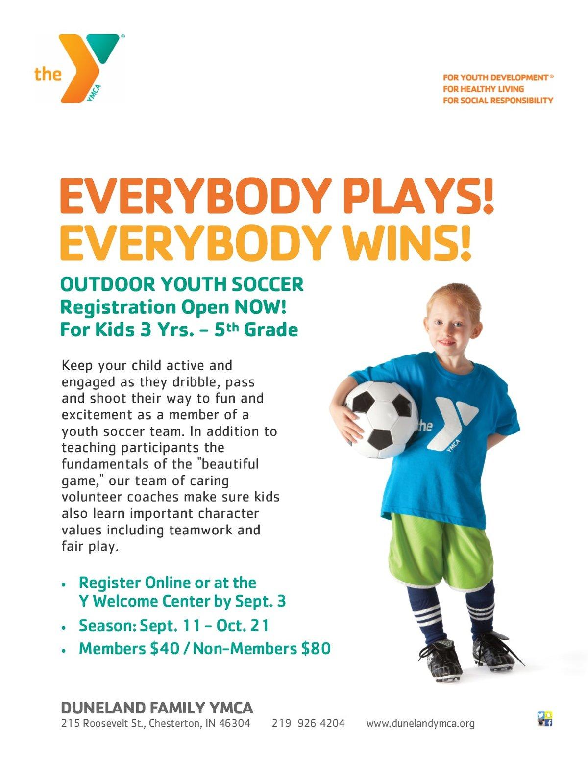 2017 Duneland Family YMCA Soccer Registration Now Open