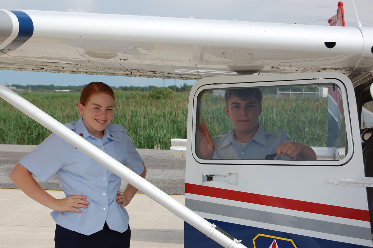 Local Youth Take to the Skies With the Civil Air Patrol